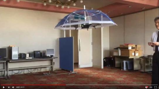 Drone parapluie