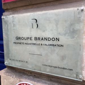 Plaque du Groupe Brandon rue Tiquetonne à Paris