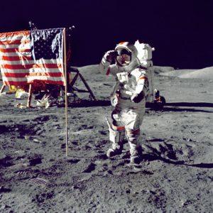 Image de la Nasa : Homme sur la Lune