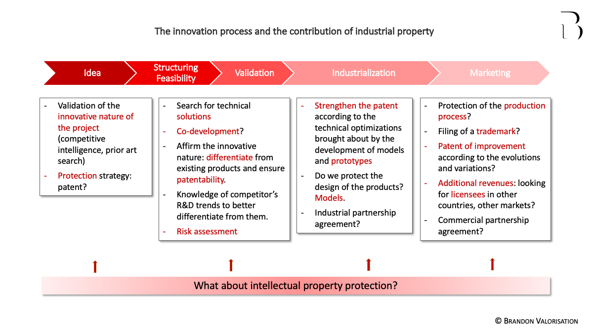 The innovation process and the contribution of intellectual property